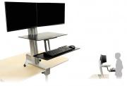 Регулируемая столешница для одного или двух мониторов Elevate DeskTop™ DT3