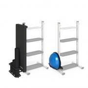 Базовая стойка с опциями: держатель для матов, роллов и BOSU (SAR-MR-VB)