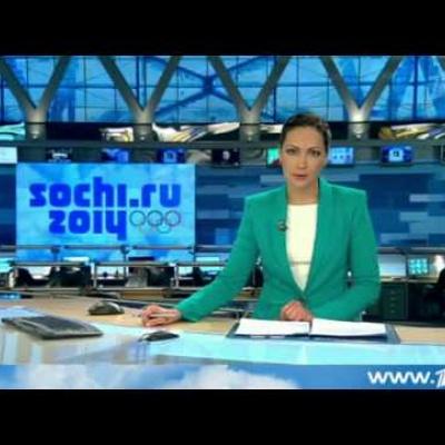 """Репортаж 1 канала -  """"Тысячи журналистов съезжаются в Олимпийский медиа центр"""""""